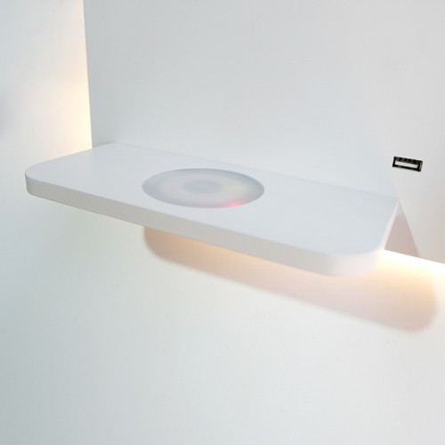 Bedroom Phone Wireless Charger Shelf Wall Lights Hotel Bedside Headboard Led Reading Lighting Usb Luminaire Lamp